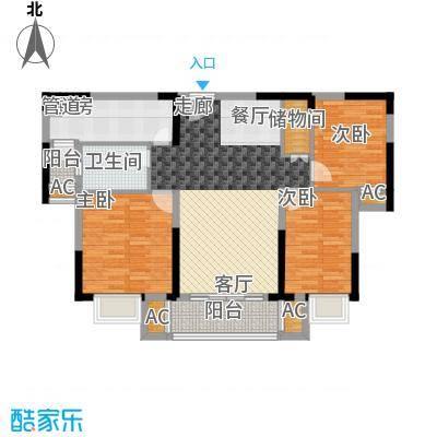 中海国际社区112.00㎡锦园1#2#楼C户型