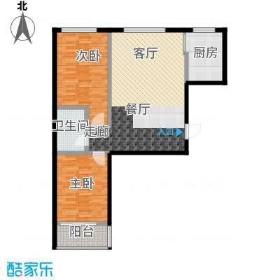 天润国际城90.60㎡户型
