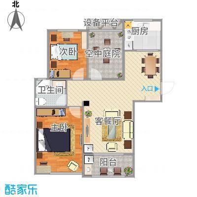 合肥滨湖香江龙韵4栋A2+改后平面布置图