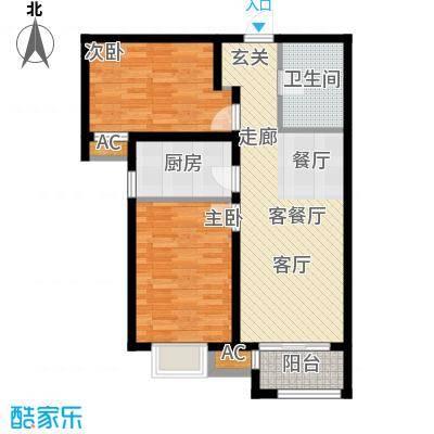 中建城二期高层203、204、205、206#B1户型