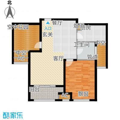 银湖花园91.00㎡9号楼、11号楼1-24层L户型