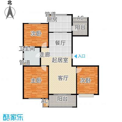 绿地香树花城11#-13#、16#-18#2个单元1-15层漫庭3室户型