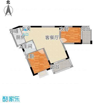 众兴华庭108.00㎡3#5#楼A-04户型