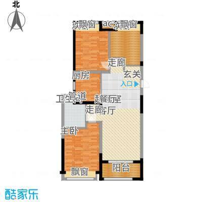 优山美地名邸113.89㎡30#楼B3户型