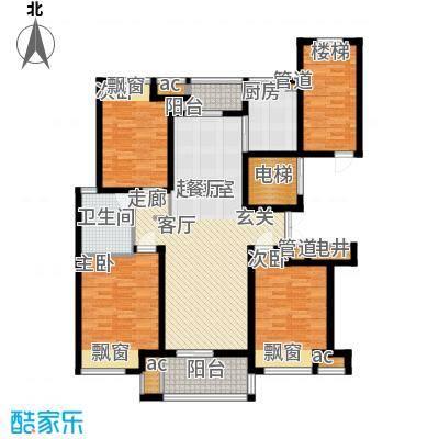 优山美地名邸128.28㎡25#楼F户型