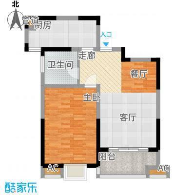 英祥承德公馆69.00㎡二期1号楼A2户型