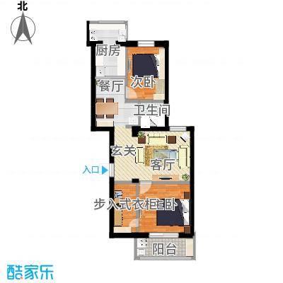 86平两室两厅6扩次卧卫生间
