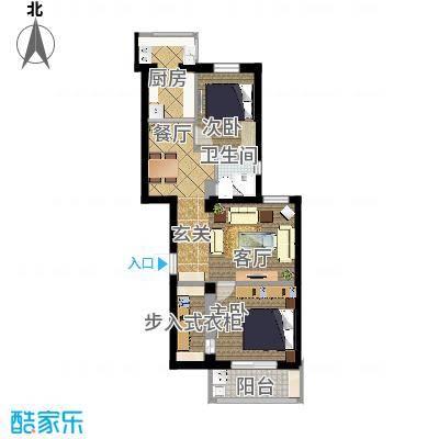 86平两室两厅5扩次卧卫生间