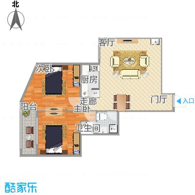 79平米两室一厅
