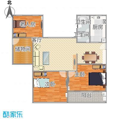 欧风花都118方三室两厅