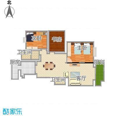 雅清苑的多层126平方米户型图