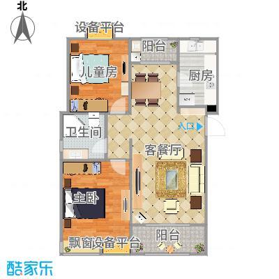 保利香颂湖87平+改后户型图.jpg