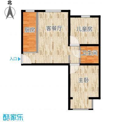 海航国兴城C户型两室一厅