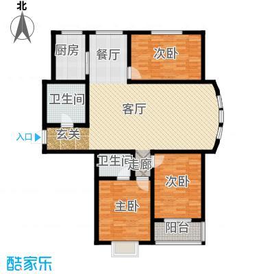 水木清华苑155.60㎡N户型