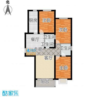 水木清华苑144.50㎡C户型
