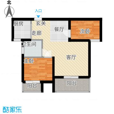 兰汀朝阳90.64㎡兰汀・朝阳高层B2面积9064m户型