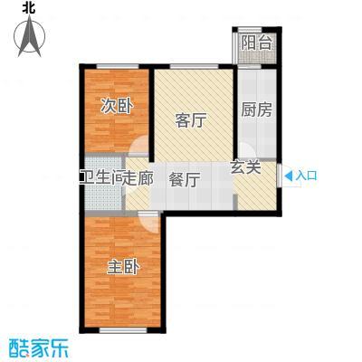 华北星城16E-B86户型