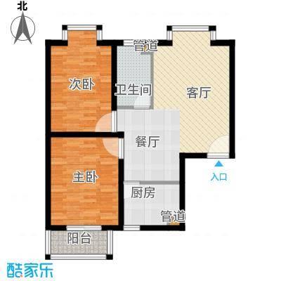 嘉兴青年新城74.07㎡面积7407m户型