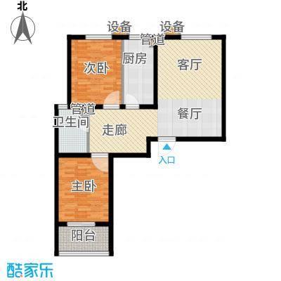 锦绣花园91.00㎡10-D面积9100m户型
