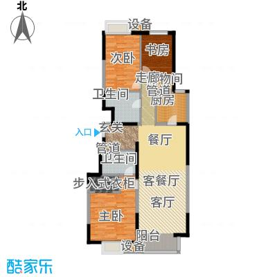 晋中万科朗润园125.00㎡晋中万科・朗润园御景阁户型