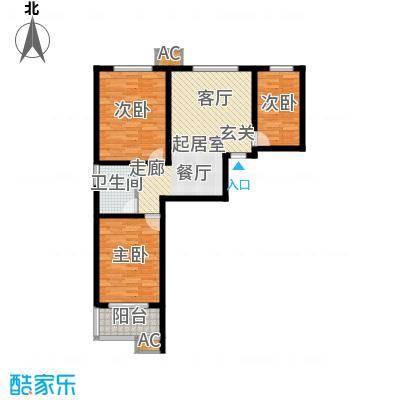 华瑞科技苑92.00㎡华瑞・科技苑D2面积9200m户型