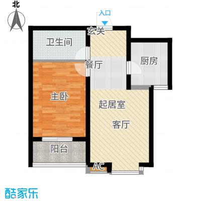 华瑞科技苑62.00㎡华瑞・科技苑C1面积6200m户型