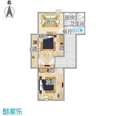 志新村85平米3居户型图