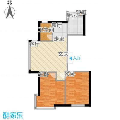 香山美墅80.90㎡户型