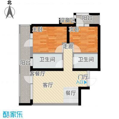 抚顺万达广场10#楼E户型