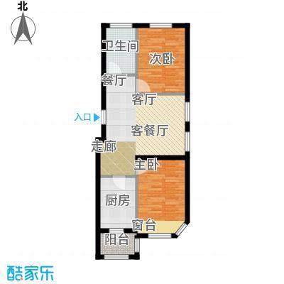 联通格林小镇2号楼7366m²户型