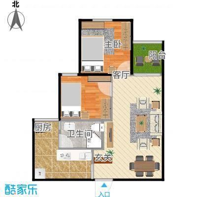 安居花园两房一厅的复制方案