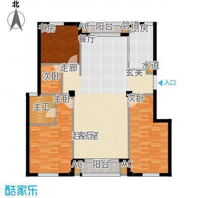 龙港花园135.50㎡1355户型
