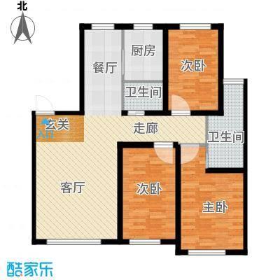 六合龙城国际115.31㎡六合・龙城国际J户型