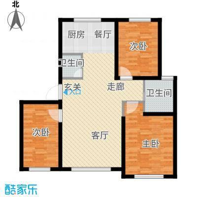 六合龙城国际106.50㎡六合・龙城国际K户型