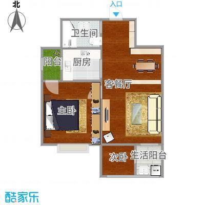 天鑫家园二期lz1782设计对薄荷味道的修改建议户型2室1厅1卫1厨