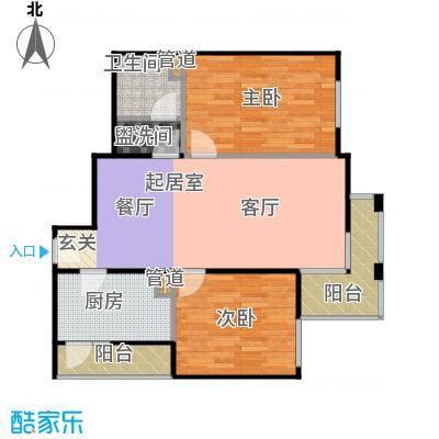 上东三角洲94.82㎡11、12号楼B户面积9482m户型