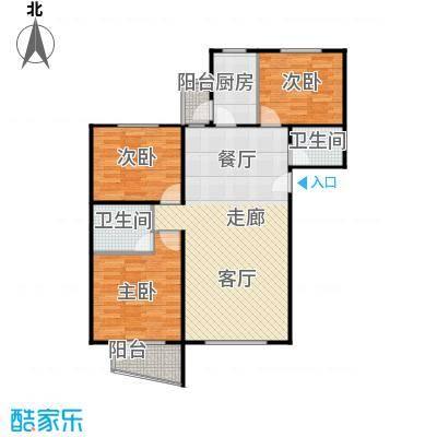 蓝调沙龙雅园104.37㎡T1面积10437m户型