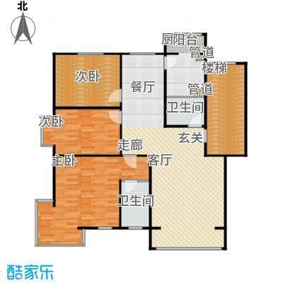 蓝调沙龙雅园133.47㎡B错43面积13347m户型