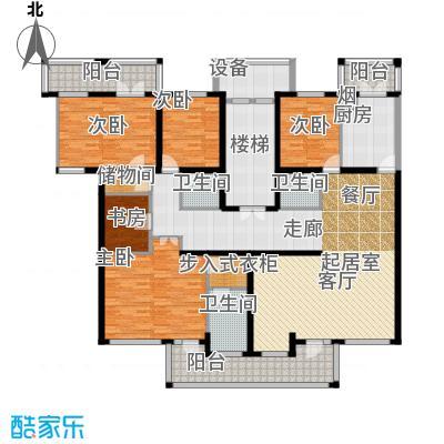 中房水木兰亭206.63㎡B'面积20663m户型