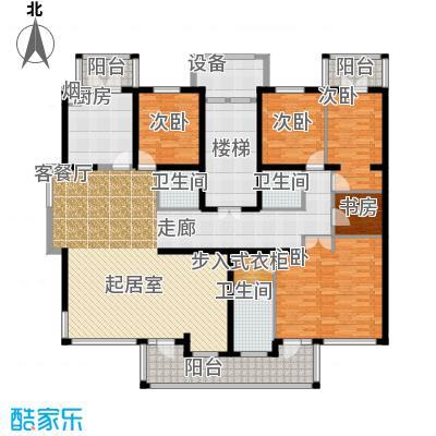 中房水木兰亭206.65㎡B2面积20665m户型