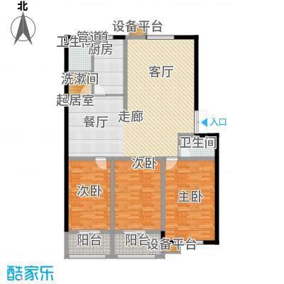 鑫河湾139.26㎡户型