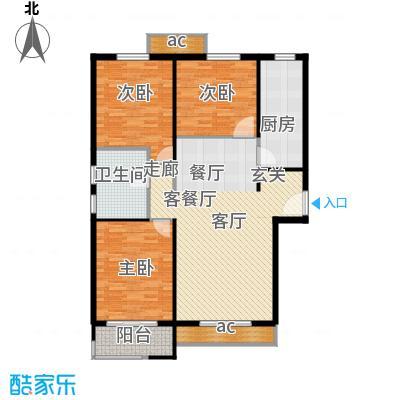 惠腾公寓119.98㎡3面积11998m户型