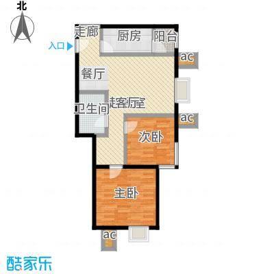 北京北88.81㎡B2面积8881m户型