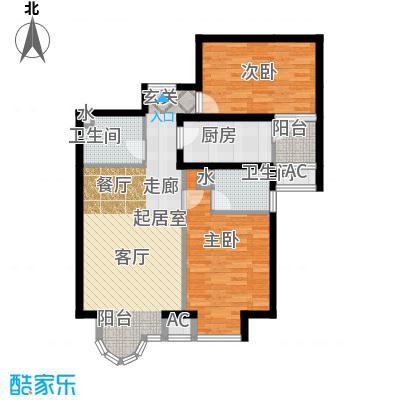 上京新航线98.00㎡3B面积9800m户型