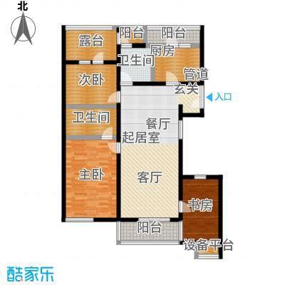 万科青青家园122.06㎡A2面积12206m户型