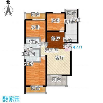 万科青青家园124.47㎡C3面积12447m户型