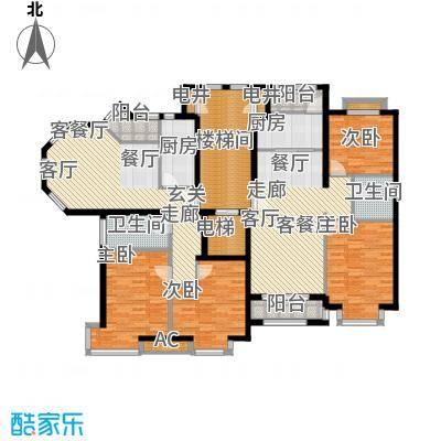 润泽悦溪88.00㎡901#902#D面积8800m户型