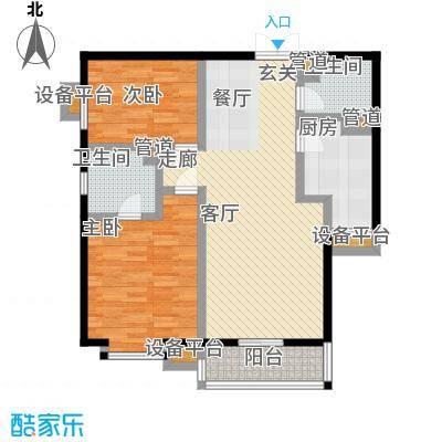 世纪东方城103.40㎡11号楼B(2居)面积10340m户型