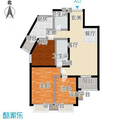 世纪东方城87.24㎡9#楼1单元A户面积8724m户型