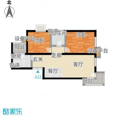 世纪东方城104.25㎡4号楼C3反(2居面积10425m户型